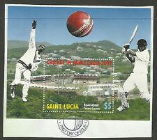 SAINT LUCIA 2007  ICC CRICKET WORLD CUP Souvenir Sheet FINE USED