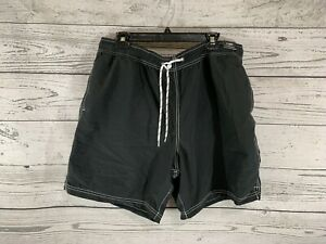 Roundtree & York Caribbean Mens Black Swim Trunks Shorts Size XL X-Large NWT
