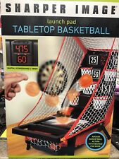 NIB Sharper Image Launch Pad Tabletop Arcade Basketball Shooting Game