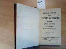 1877 RACCOLTA COMPLETA POESIE GIOCOSE ANTONIO GUADAGNOLI D'AREZZO (422) PAGNONI