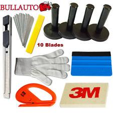 Car Wrap Vinyl Tools Kit 3M Felt Squeegee Cutter 4 Magnets Application US Set