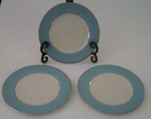 "Flintridge China Platinum Strata Blue (Rim) Bread Side Plate 6 3/8"" California"