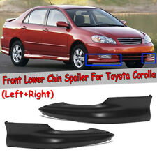 For 2003 2004 Toyota Corolla S Factory Style Body Kit Front Bumper Lips L-R