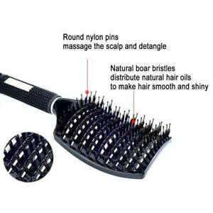 Women Detangling Nylon Bristle Brush Detangle Hairbrush 8Y5T Scalp Massage U9L5