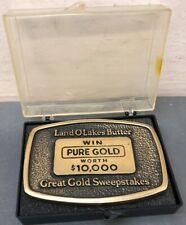 Vintage 1980's Land O Lakes  Butter Advertising Paperweight Gold Sweepstake 2x3'