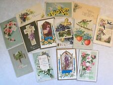 EASTER GREETINGS PRE-LINEN POSTCARD LOT MANY EMBOSSED 1907 UP MOST >100 YRS OLDd