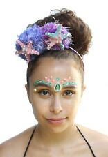 Mermaid Pom Pom Pastel Starfish Shell Crown Headband Festival Boho Headdress