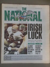 THE NATIONAL SPORTS DAILY IRISH LUCK NOTRE DAME BEATS MICHIGAN ST SEPT 23, 1990