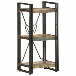 Wooden Bookcase 3-Tier Industrial Style Book Storage Rack Shelves Bookshelf Unit