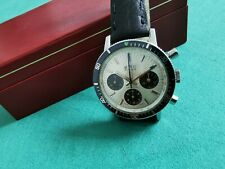 BWC-Swiss Valjoux 72 waterproof chrono steel mm 38 panda dial rotating bezel - b
