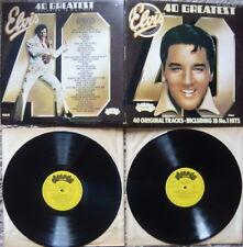 ELVIS PRESLEY - 40 Greatest Hits 2 LP Set  EXCELLENT CONDITION