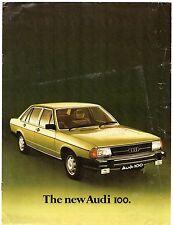Audi 100 Saloon 1976-77 UK Market Launch Sales Brochure LS GLS