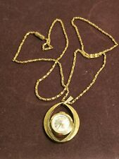 Vintage Smiths Gold Tone Pendant Watch Working