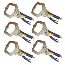 """6PC HEAVY DUTY 11"""" C CLAMP, Extra Thick for High Strengtht Quality Locking Plier"""