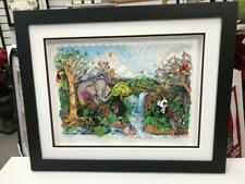"""Charles Fazzino 3D Artwork """" The Serenity Of The Wildlife """" Signed & Numbered DX"""
