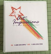 Rare Art Impressions 2002 Rubber Stamp Catalog Book 3-Ring Binder Lots of Ideas
