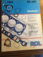 Vintage 1990 ROL Gasket  Parts Catalog  RG490