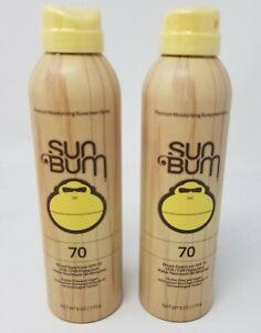 Sun Bum Original SPF 70 Sunscreen Spray 6 oz. Sunscreen pack of 2 beach vacation