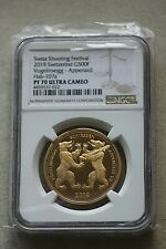 2019 Switzerland Shooting Taler, Appenzell, 500 Francs, gold, NGC PF70 U.C.