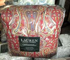 RALPH LAUREN Queen Comforter Set 4PC NANTUCKETT RED PAISLEY