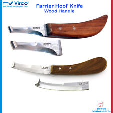 Farrier Hoof Knife Double Sided Blade Right Left Veterinary Stainles Steel Ce