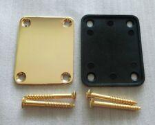 Guitar Neck Plate For Tele Strat Jaguar Bolt-on neck style ,Gold Plated