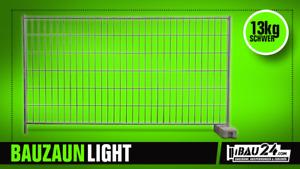 10x Bauzaun light inkl.20 x Verbindungsschelle