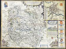 c1710 Original Antique Map - HEREFORDSHIRE by John Speed Henry Overton RARE