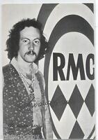 AWANA-GANA RADIO MONTECARLO Cartolina d'epoca PC 1970s Music