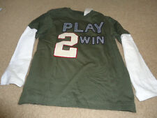 Gymboree Boy's Play 2 Win Baseball Long Sleeve Shirt 6- Nwt