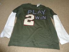 Gymboree Boy's Play 2 Win Baseball Long Sleeve Shirt 6- Nwt