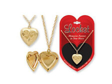 NWT Photo Picture Locket Heart Love Necklace 9 Styles To Choose Gold Or Silver