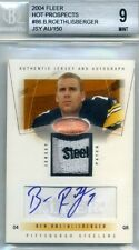 2004 04 Fleer Hot Prospects HP Auto Patch Jersey SET RC Roethlisberger Manning
