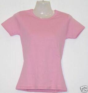 Girlie T-Shirt * Uni rosa S - XXL