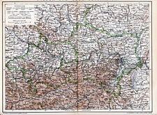 Nieder-Österreich OÖ 1893 orig. Karte + Lexikon-Artikel Wien Krems Tulln Baden
