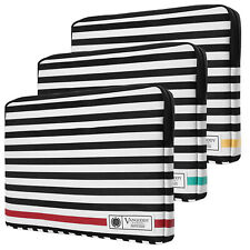 """Stripe Leather Laptop Sleeve Case Bag For 17.3"""" Dell Alienware M17/ Inspiron 17"""