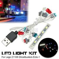 USB LED Light Kit ONLY Fit For Lego 21108 Ghostbusters Ecto-1 Lighting Bricks
