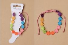 NEW Multi Coloured Daisy Chain Corded Ankle Anklet Fashion Jewellery