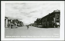 Redfield South Dakota Main Street View from South 1940s Rppc Photo Postcard