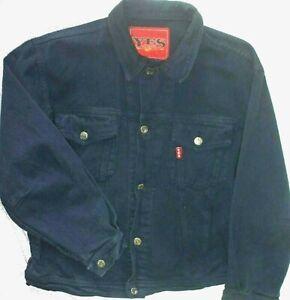 Vintage YES Denim Jeans Jacket Women's size Large Dark Wash