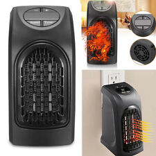 400W Mini Furnace Portable Plug-in Electric Wall-outlet Space Heater 220V