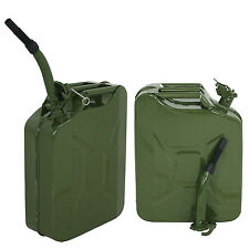 2pc 5 Gallon Jerry Can Fuel Steel Green Military NATO Style 20L Storage Tank