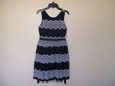 NEW! SPEECHLESS GIRLS BLACK & IVORY FLORAL LACE PATTERN DRESS SIZE 14 RETAIL $68