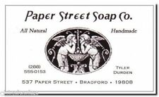 Tyler Durden Fight Club Paper Street Soap Company Movie Novelty Business Card