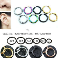 Women Men Gothic Stainless Steel Simple Round Stud Punk Style Earrings Gifts