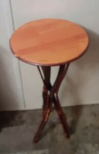 Rare Handcrafted Natural Wood Tree Branch Telephone/ Plant Stand/ Accent Table
