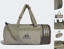 ADIDAS Gym Carry Bag Convertible Cargo Canvas Duffel Shoulder Bags Backpack BNWT