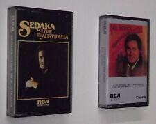 """2 Neil Sedaka 1976 Tapes """"Live in Australia"""" """"Let's Go Steady Again"""" Cassettes B"""