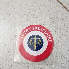 AUTOCOLLANT Rond 9cm Expert Judiciaire cocarde tricolore
