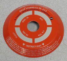 GREER HYDRAULICS Accumulator Name Plate P/N:  552556